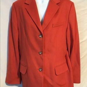 L.L. Bean 14R dark orange wool blazer